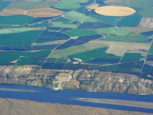 The Columbia River, north of Pasco, Washington