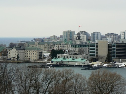 Skyline, with Canada's Royal Military College in foreground
