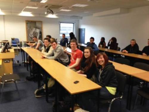 Ending a year of teaching on a high note: seldom to I encounter students who willingly line the front row, but at DCU I did!