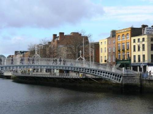 The Ha'penny Bridge on the River Liffey