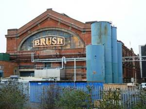 Brush Electrical Machines factory, Loughborough; some of the industrial strength of the English Midlands has been hollowed out, but many viable companies remain